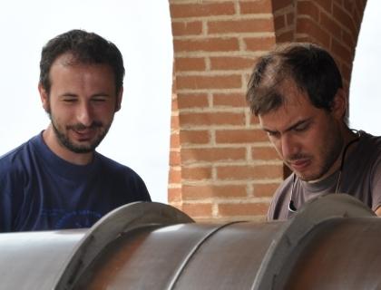 Gigi Nembrini (sinistra) e Daniele Gentile (destra), fondatori di Corte Fusia