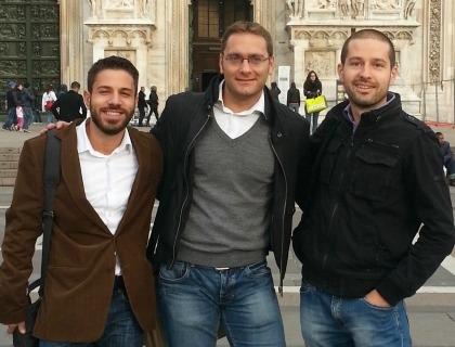 I co-fondatori di Lectios: Jacopo Penso, Francesco Pra Levis e Tommaso Cardone
