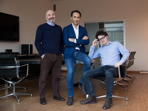 I founder di MainStreaming: Antonio Corrado (CEO), Philippe Tripodi (COO) e Giovanni Proscia (CTO)