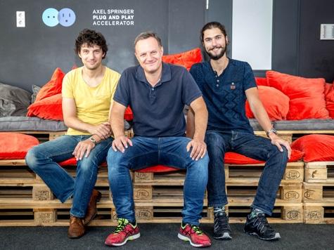 Da sinistra: Peter Senoner, Arno Senoner, Timo Casa (core team Berlino)
