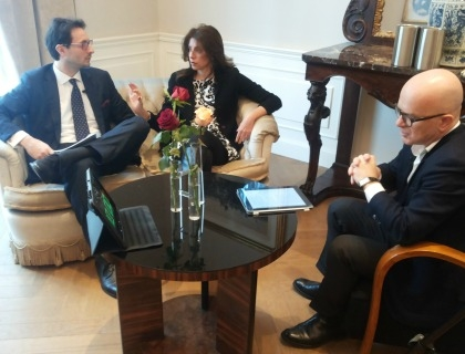 Alvise Biffi, Paola Garibotti e Giovanni Iozzia