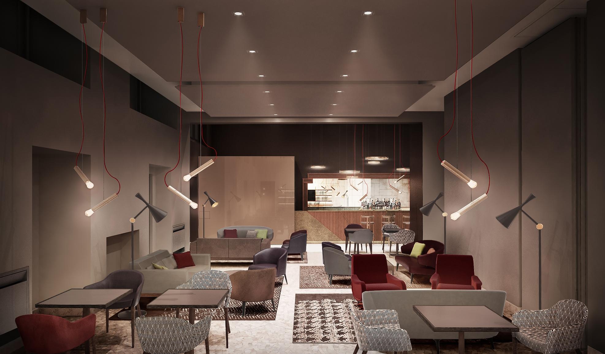 Gli interni della nuova Club House Brera