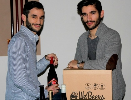 I fondatori di WeBeers, Alberto Maria e Giammarco Maria Gizzi