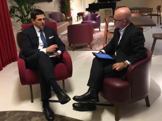 Federico Leproux, CEO di Teamsystem, con Giovanni Iozzia