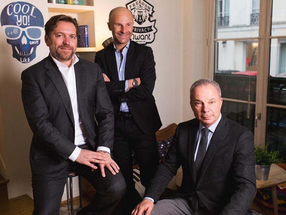 I tre fondatori di Qwant