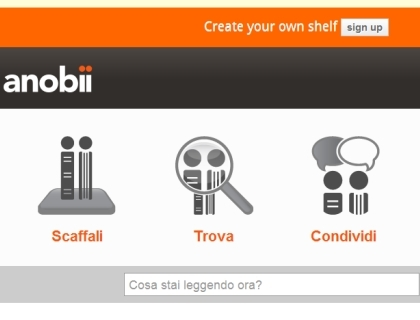 L'home page di Anobii