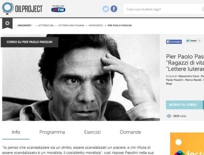 L'home page del sito
