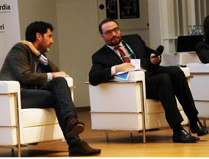 Riccardo Donadon e Stefano Firpo sul palco durante gli Stati Generali dell'ecosistema startup