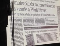 La pagina del Corriere della Sera con la storia di Spinelli