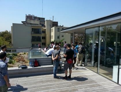 Il tetto dello spazio di coworking in Cile