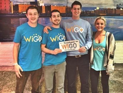 Il team di Wigo. Da sinistra a destra: Tyler Swartz, Giuliano Giacaglia (CTO/cofounder), Ben Kaplan (CEO/cofounder) e Claire Uhar