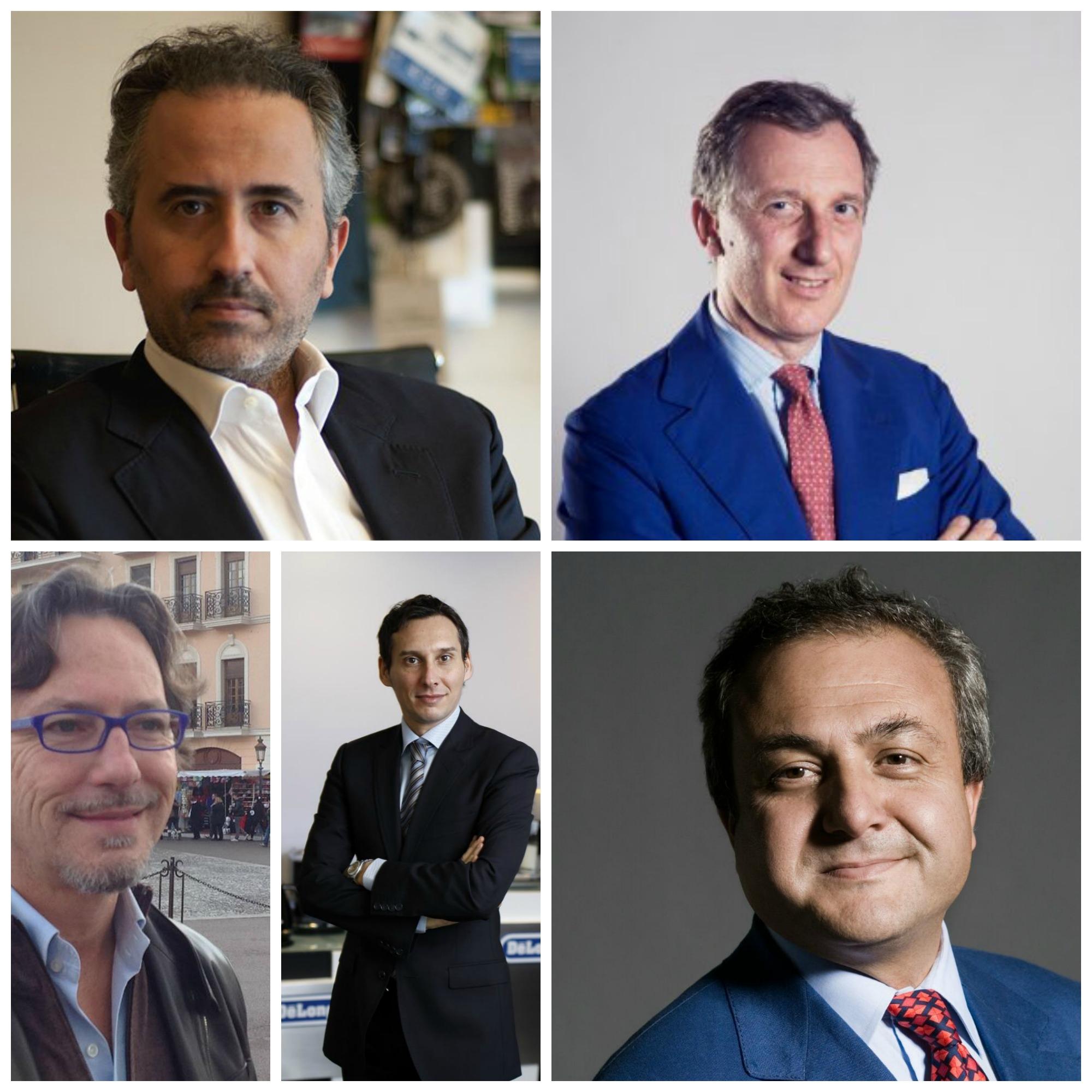 Da sinistra verso destra: Marco Gualtieri, Michele Costabile, Alessandro Macciardi, Filippo Trau, Roberto Mazzei