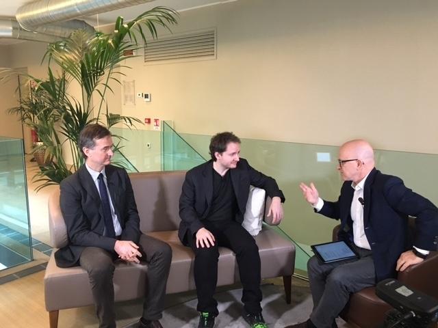 Giovanni Iozzia, da destra, con Giacomo Zucco (Blockchain Lab) e Mauro Bellini (Blockchain4Innovation)