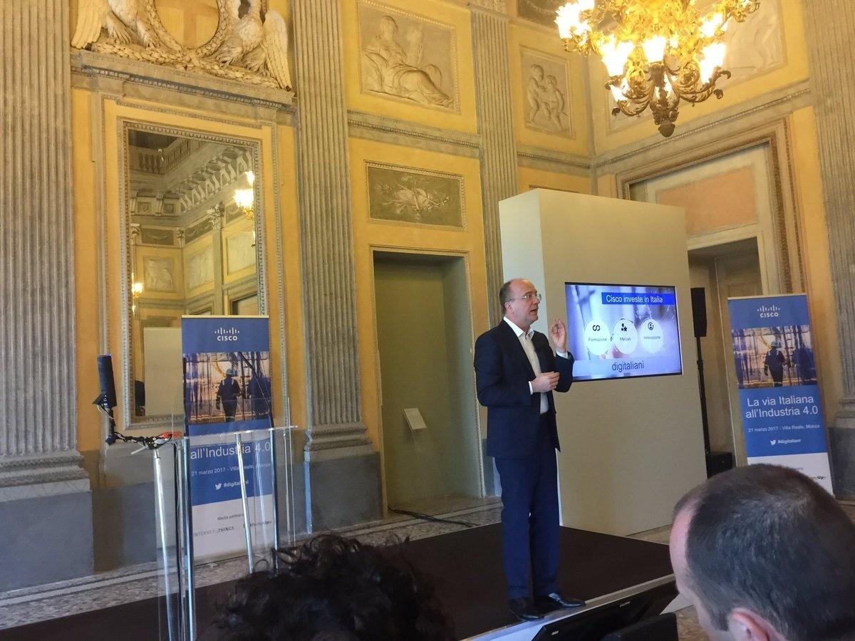 L'intervento di Agostino Santoni amministratore delegato di Cisco Italia