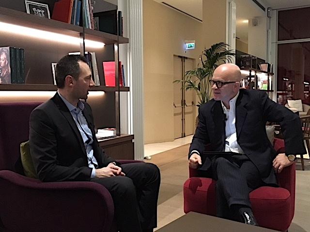 Vincenzo Cioffi, founder di ProfumeriaWeb, con Giovanni Iozzia