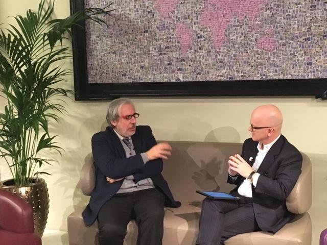Giovanni Iozzia con Amedeo Cesta, presidente dell'Associazione Italiana per l'Intelligenza Artificiale