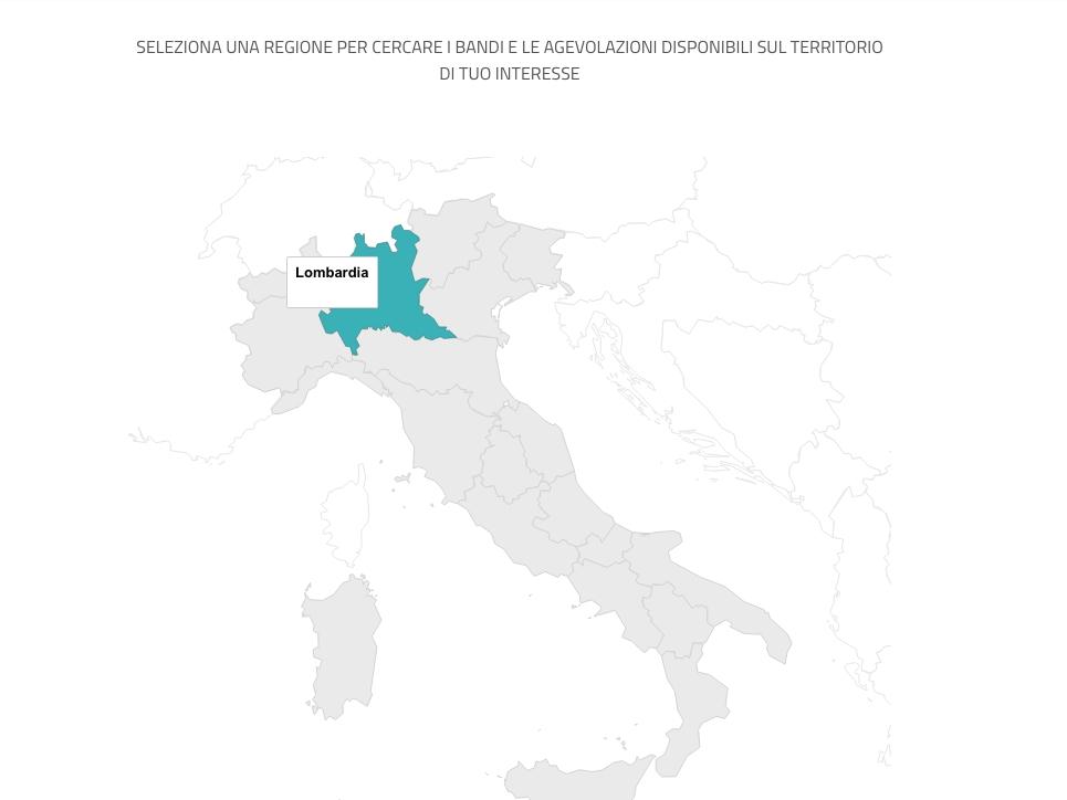 La mappa navigabile del sito finanziamentistartup.eu