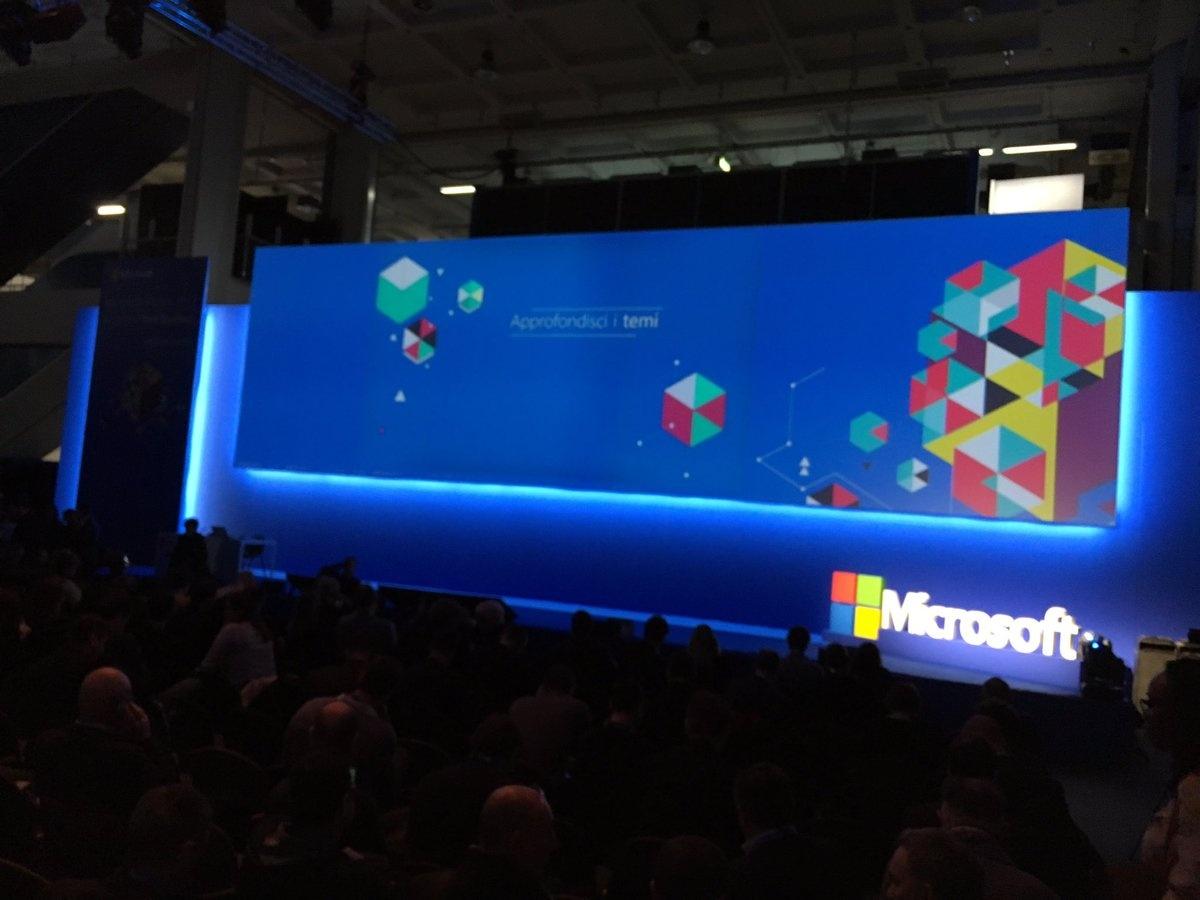 Il palco del Microsoft Forum 2017