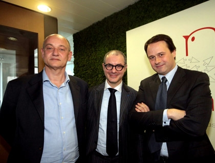 Enrico Gasperini, presidente di Digital Magics; Alceo Rapagna, chief digital officer di RCS MediaGroup; Pietro Scott Jovane, amministratore delegato di RCS Media Group