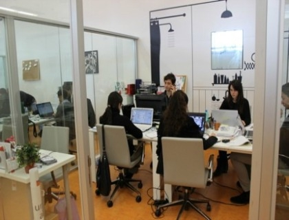 Gli open-space all'interno di Luiss Enlabs