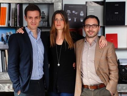I fondatori di Lovethesign: Simone Panfilo, Laura Angius e Vincenzo Cannata