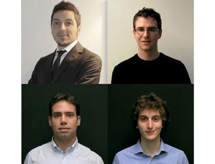 I founder di AdvicyDrive. In alto da sinistra: Vincenzo Ferreri, Paolo Sangregorio; in basso: Giorgio Ferrari, Rodolfo Pinto