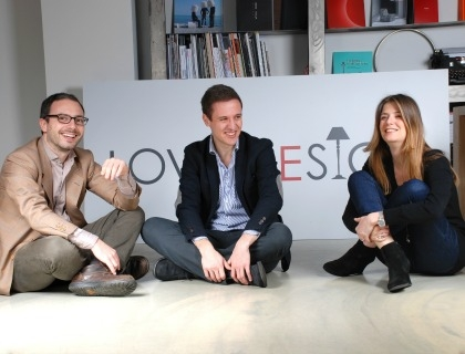 I co-fondatori di Lovethesign: Vincenzo Cannata, Simone Panfilo e Laura Angius
