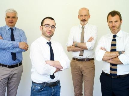 Da sinistra:  Ivan Pastorini, Fondatore e AD di Ubiq ; Davide Mari, Cto e socio;  Davide Pellegrini, Fondatore e Presidente ; Massimo Ferriani, Vicepresidente