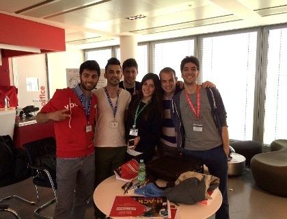 Il team vincitore di H-ack My Vodafone