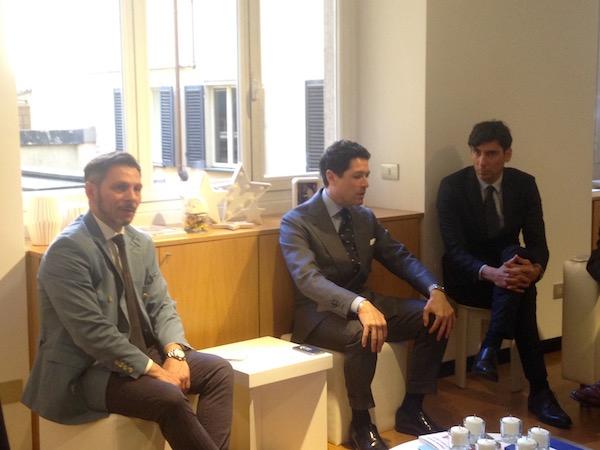 Da sinistra: Ivan Drogo Inglese (Holding Hospital), Matteo Marzotto (CUOA), Francesco Rapetti Mogol (Nuvap)