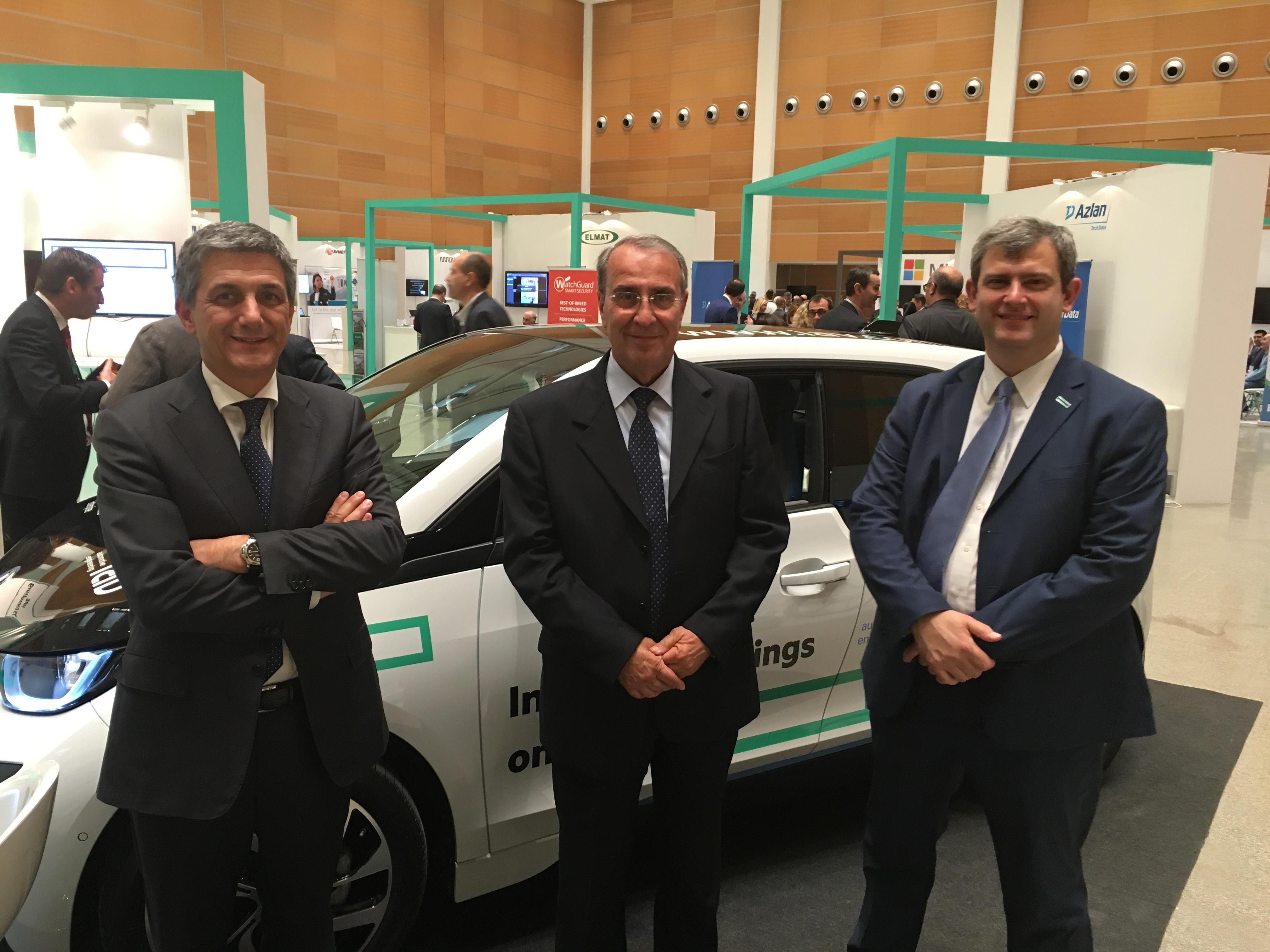 Da sinistra a destra, Stefano Venturi di HPE, Paolo Castellacci di Computer Gross e Paolo Delgrosso di HPE