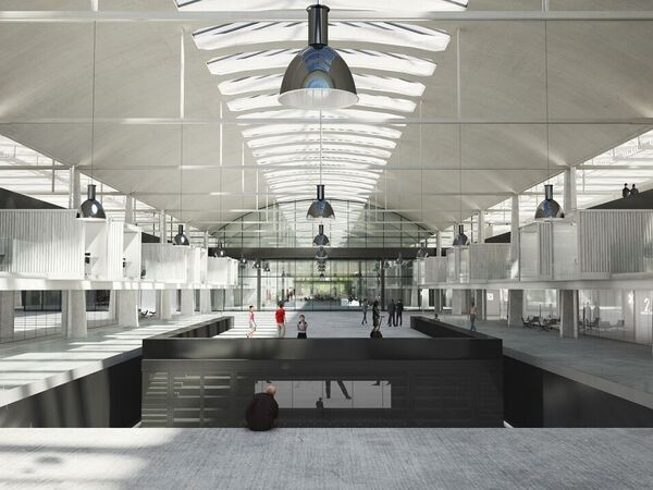 Una sala interna dell'incubatore parigino Station F