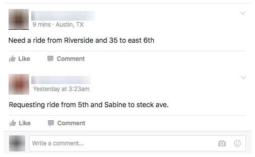 La pagina Facebook che ha sostituito Uber