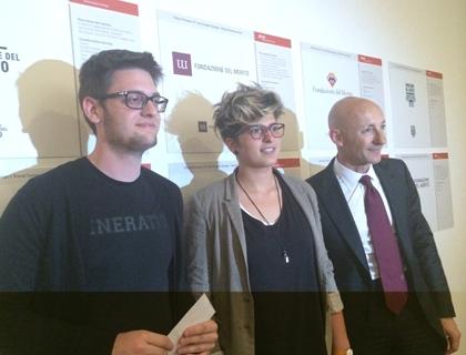 Federico Morello e Chiara Pirovano con Mimmo Costanzo