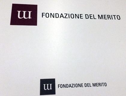 Il logo della Fondazione del merito disegnato da Chiara Pirovano, studentessa dello Ied Milano
