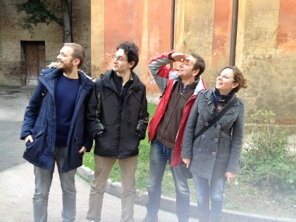 Il team di Junker. Da sinistra: Giacomo Farneti, Massimo Marzocchi, Todor Sergueev Petkov, Benedetta De Santis