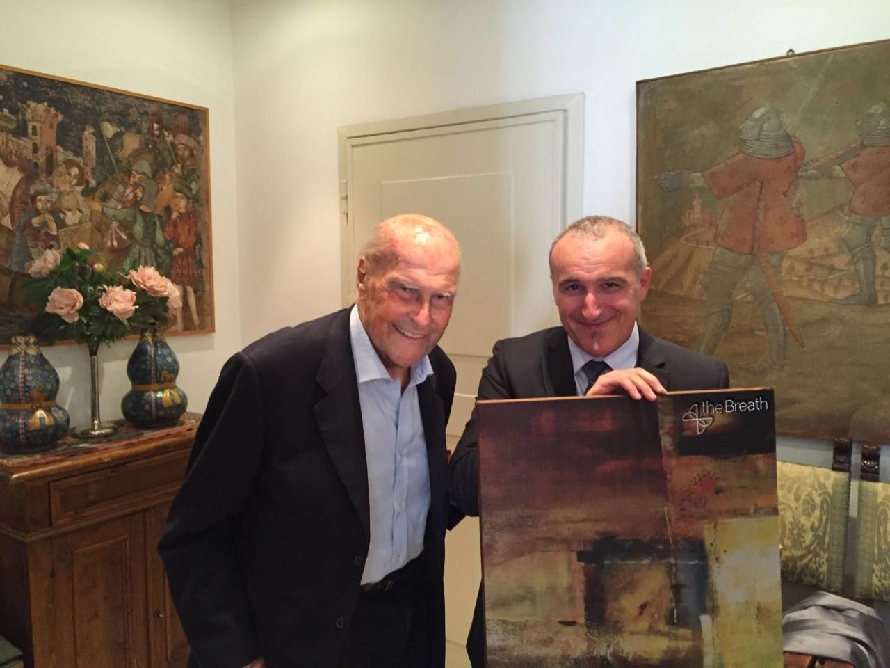 Umberto Veronesi con Gianmarco Cammi, direttore operativo di Anemotech