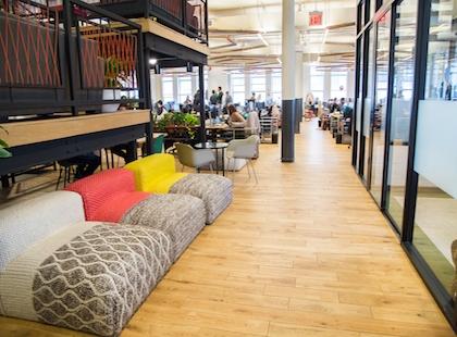 Spazi relax nell'ufficio di Wework