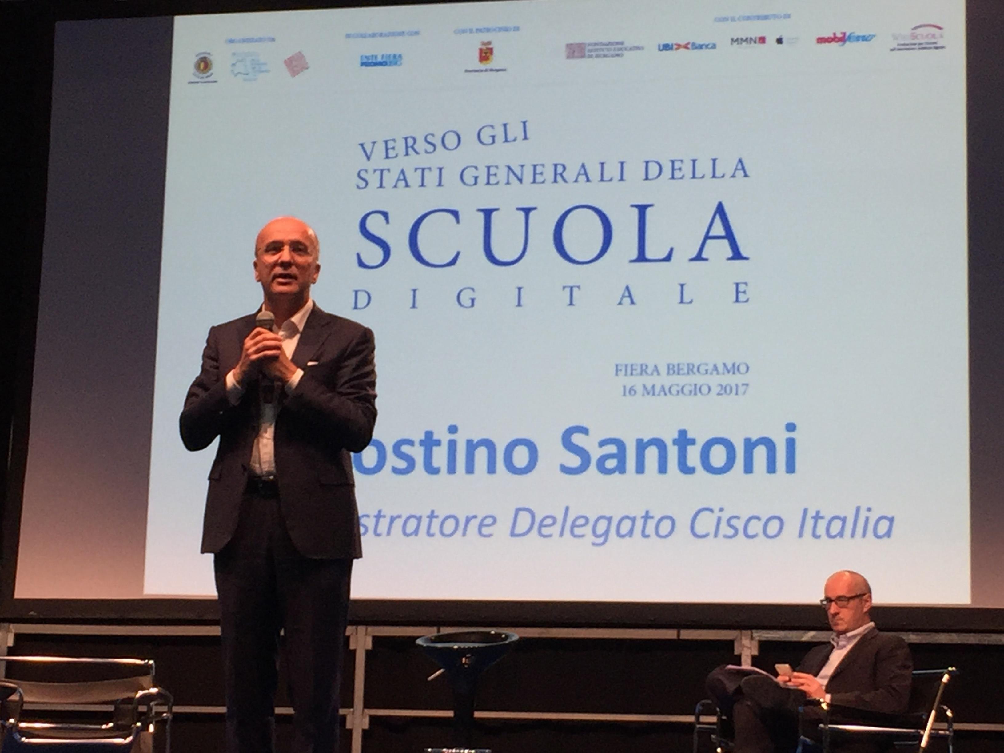 """Agostino Santoni, AD Cisco Italia, all'evento """"Verso gli Stati Generali della Scuola Digitale"""""""