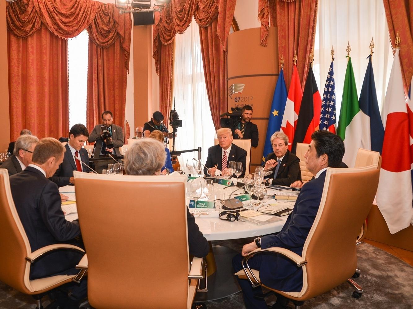 Un momento del Summit G7 a Taormina