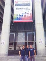 I vincitori di InnovAction Lab: Diego Durante, Francesco Mancino e Piero Borgo, ideatori di Leevia
