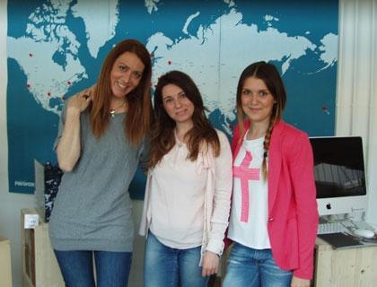 Il team di InteriorBE: da sinistra Alessandra Giardina, Sabrina Lanza e Federica Sala