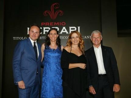 Matteo Lunelli, Camilla Lunelli, Monica Maggioni e Andrea Illy al Premio Ferrari 2015
