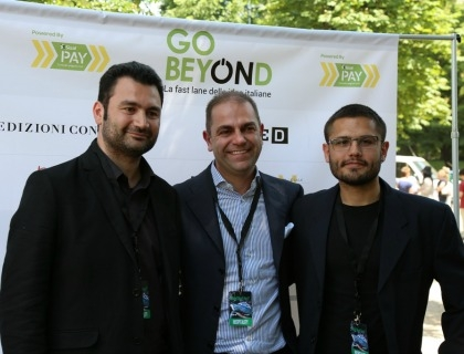 Gianluca Lattanzi (DbGlove), Maurizio Santacroce (Sisal Group) e Nicholas Caporusso (DbGlove)