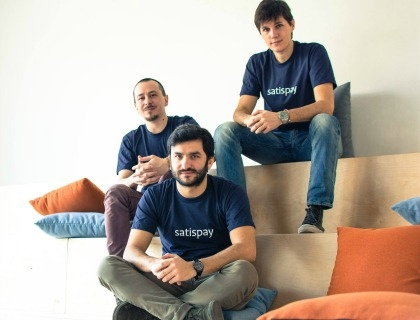 I co-fondatori di Satispay: Samuele Pinta, Alberto Dalmasso e Dario Brignone