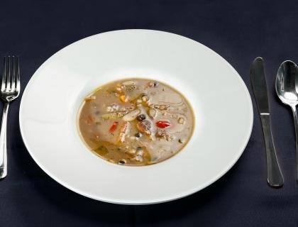 Zuppa di legumi provenienti da presìdi Slow Food