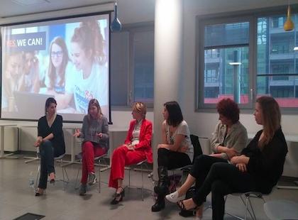 Il workshop sull'imprenditoria femminile tenutosi nello spazio Arena del Polihub di Milano