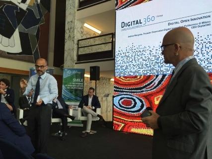 Da sinistra Andrea Rangone, Ceo di Digital360, e Giovanni Iozzia, direttore di EconomyUp, a #SmartInnovationHub