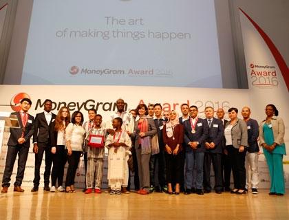 I vincitori del MoneyGram Award 2016 con la Presidente della Camera Laura Boldrini