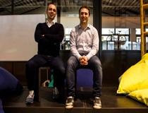 I fondatori di Younivocal: Andrea Pace (sinistra) Francesco Digenova (destra)